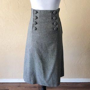 H&M Tweed Sailor A-Line Skirt